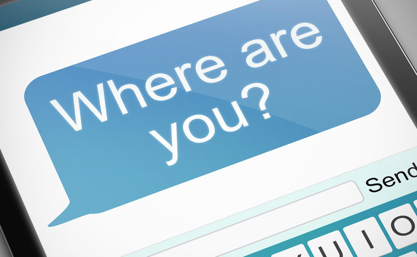 "Text showing ""Where are you"" text"