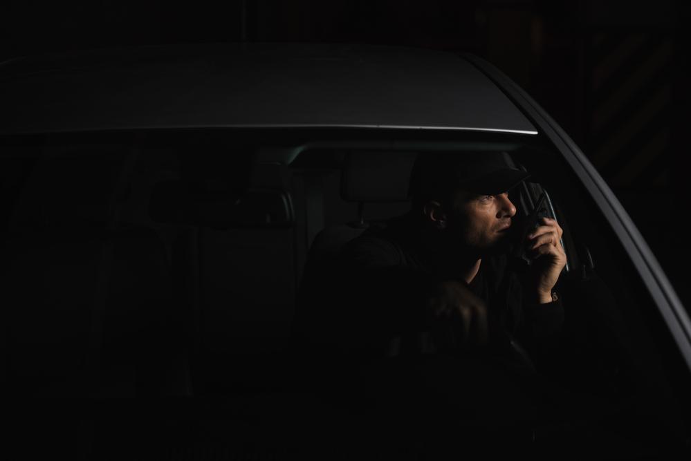 detective on walkie